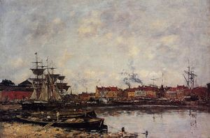 Eugène Louis Boudin - Dunkirk, the Inner Port
