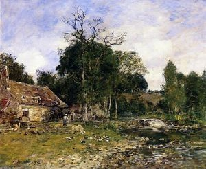 Eugène Louis Boudin - The Mill, Saint-Cenery