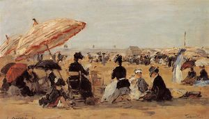 Eugène Louis Boudin - The Beach