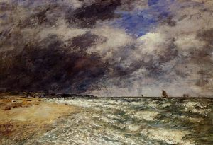 Eugène Louis Boudin - A Squall from Northwest