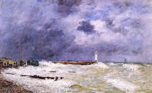 Eugène Louis Boudin - Le Havre. Heavy Winds off of Frascati.