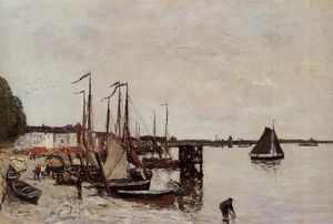Eugène Louis Boudin - Antwerp, Fishing Boats