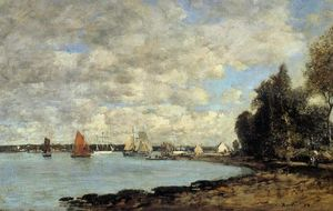Eugène Louis Boudin - Bay of Plougastel