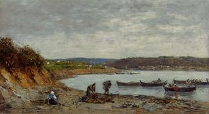 Eugène Louis Boudin - Brest, Fishing Boats