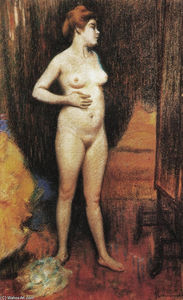 Federico Zandomeneghi - Naked woman in the mirror