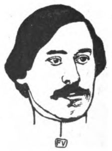 Felix Vallotton - Portrait of French writer Paul Fort