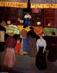 Felix Vallotton - At the Market