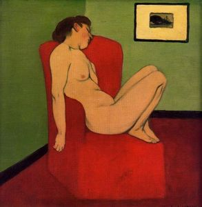 Felix Vallotton - Seated Female Nude