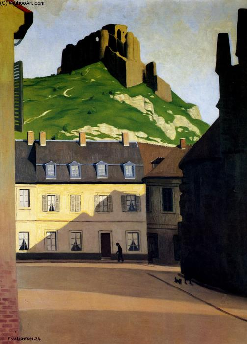 The Strong Castle and the place of Andelys, 1924 by Felix Vallotton (1865-1925, Switzerland) | Famous Paintings Reproductions | WahooArt.com