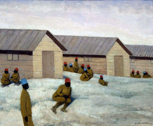 Felix Vallotton - Senegalese soldiers at Camp de Mailly