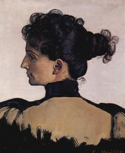 Ferdinand Hodler - Portrait of Berthe Jacques, wife of the artist