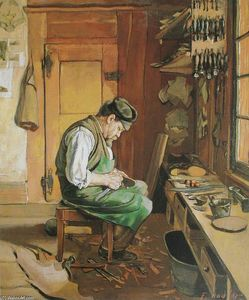 Ferdinand Hodler - The shoemaker