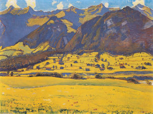 Ferdinand Hodler - View of the Horn of Fromberg from Reichenbach