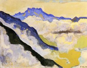 Ferdinand Hodler - Dents du Midi in Clouds