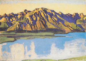 Ferdinand Hodler - The Grammont in the morning sun