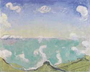 Ferdinand Hodler - Landscape at Caux with increasing clouds