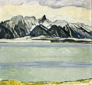 Ferdinand Hodler - Lake Thun with Stockhornkette in Winter