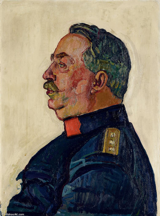 Portrait of General Ulrich Wille, 1915 by Ferdinand Hodler (1853-1918, Switzerland)
