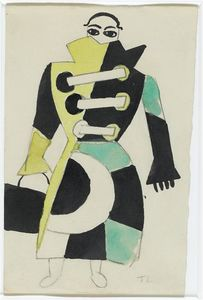 Fernand Leger - Project for female costume Skating Rink