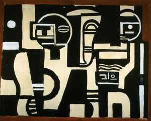 Fernand Leger - The Creation of the World drawing of curtain of scene