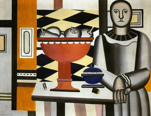 Fernand Leger - The Woman with the fruit dish