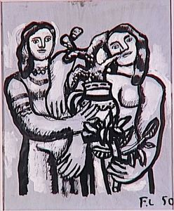 Fernand Leger - Birthday, two women