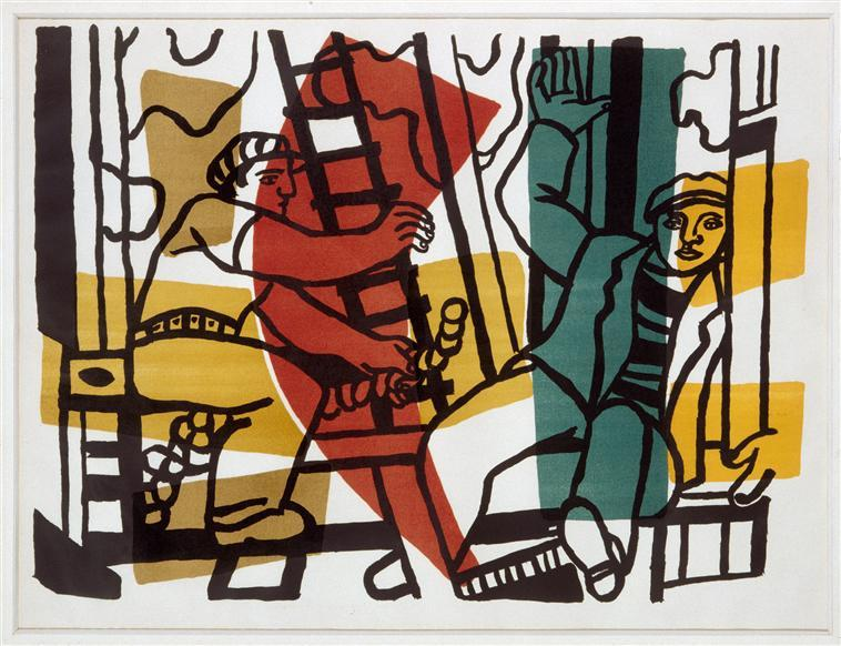 The Builders (outside color), 1955 by Fernand Leger (1881-1955, France)
