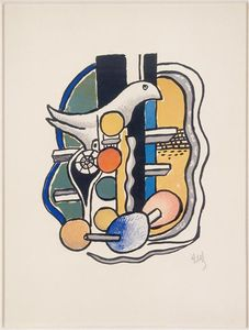 Fernand Leger - The Dove (Still Life with Bird)