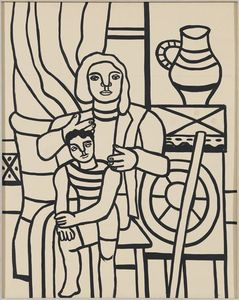 Fernand Leger - Mother and child