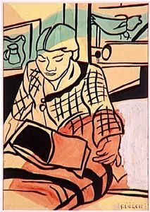 Fernand Leger - Reading