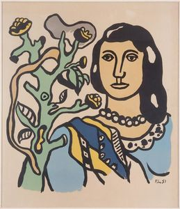 Fernand Leger - The woman and the flower