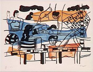 Fernand Leger - The pool