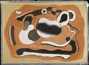 Fernand Leger - Composition on an orange background