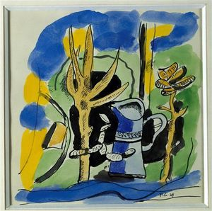 Fernand Leger - Composition at pitcher
