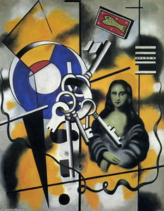Fernand Leger - Mona Lisa with the keys