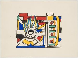 Fernand Leger - Models, mosaic project for Gaz de France Alforville