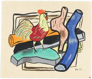 Fernand Leger - Rooster and logs