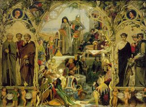 Ford Madox Brown - The Seeds and Fruit of English Poetry