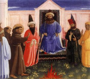Fra Angelico - The Trial by Fire of St. Francis before the Sultan