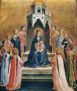 Fra Angelico - Virgin and Child Enthroned with Twelve Angels