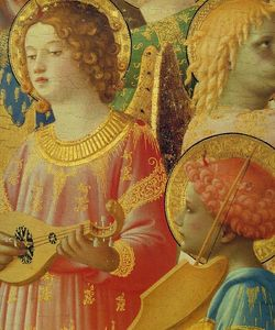 Fra Angelico - Coronation of the Virgin (detail)