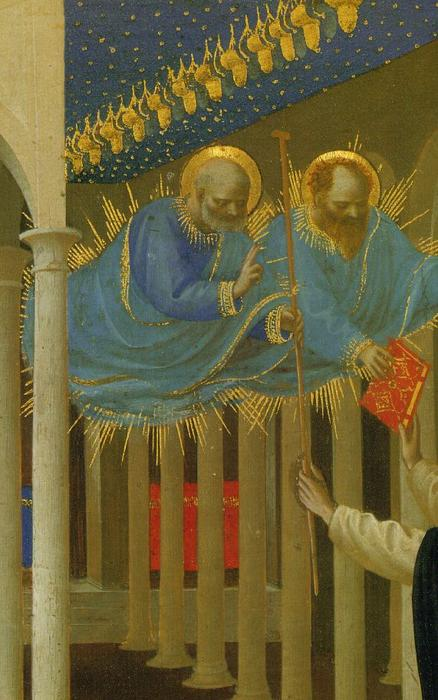 Coronation of the Virgin (detail), Tempera by Fra Angelico (1395-1455, Italy)