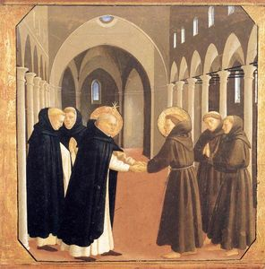 Fra Angelico - The Meeting of Sts Dominic and Francis of Assisi