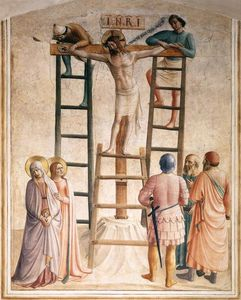 Fra Angelico - Nailing of Christ to the Cross
