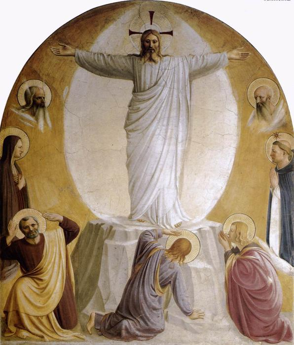 Order Reproductions | Transfiguration, 1442 by Fra Angelico (1395-1455, Italy) | WahooArt.com