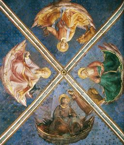 Fra Angelico - View of the chapel vaulting