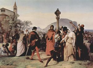 Francesco Hayez - Sicilian evenings painting series, Scene 3
