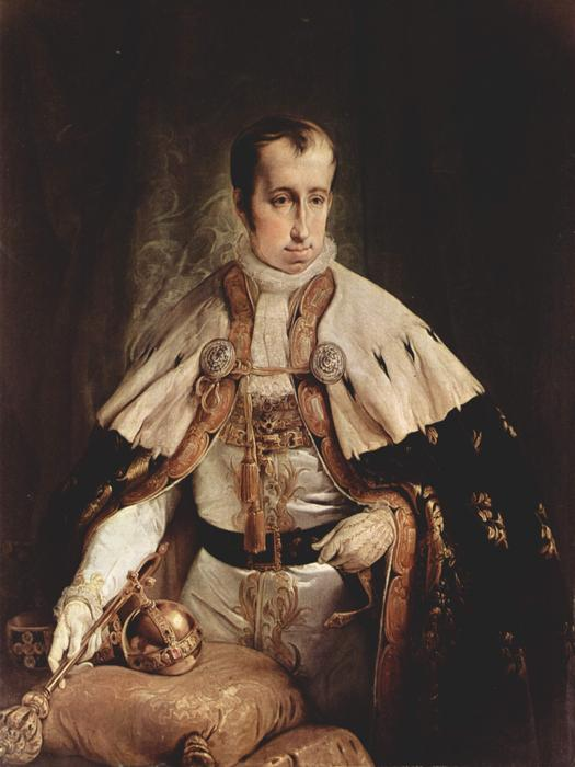 Portrait of Ferdinand I of Austria, 1840 by Francesco Hayez (1791-1882, Italy) | Paintings Reproductions Francesco Hayez | WahooArt.com
