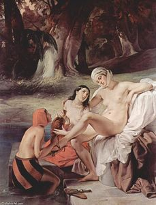 Order Museum Quality Copies | Bathing Bathsheba, 1834 by Francesco Hayez (1791-1882, Italy) | WahooArt.com