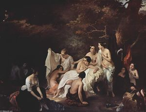 Francesco Hayez - Bathing nymphs